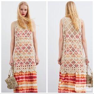 NWT • Zara • Crocheted Dress